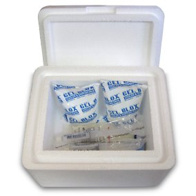 Gel Blox Cold Shipping Packs in EPS Foam Cooler