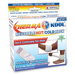 "Therma-Kool Reusable Hot Cold Pack with Freedom Wrap, 4"" x 9"""