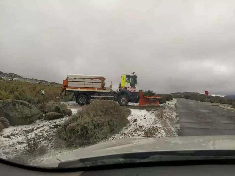 La nieve llega a las cumbres de Extremadura
