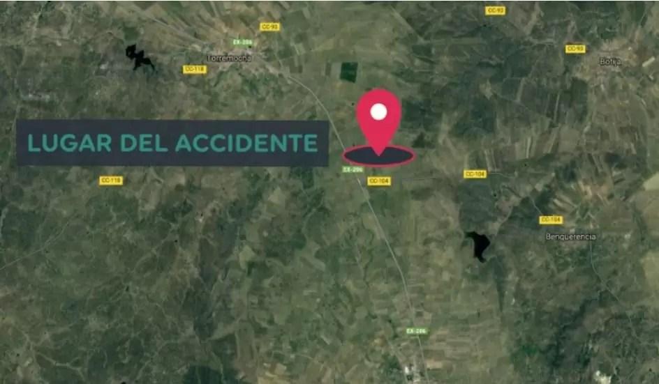 Un hombre fallece en una colisión entre Valdefuentes y Torremocha