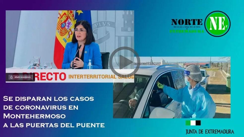Se disparan los casos de coronavirus en Montehermoso a las puertas del puente