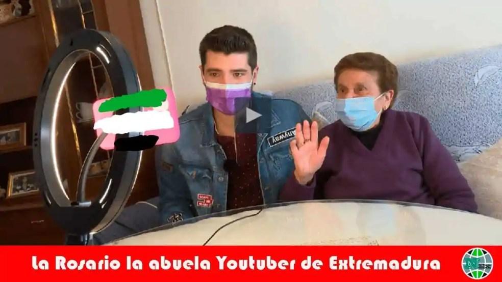 La Rosario la abuela Youtuber de Extremadura