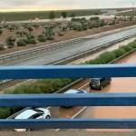 Cortado un carril de la A-66 entre Almendralejo y Villafranca por el agua