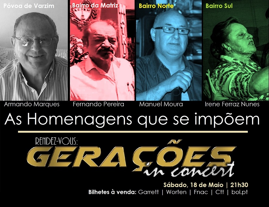 """Homenagens no concerto """"Gerações"""""""