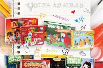 [VOLTA AS AULAS] Brinquedos Educativos e Materiais Pedagógicos para Lista Escolar
