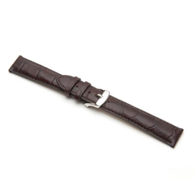 Bracelete Relógio Pele Genuína Castanha