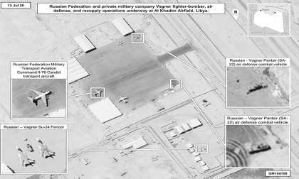 Africa COmmand satellite photo of Russian arms supply in Libya