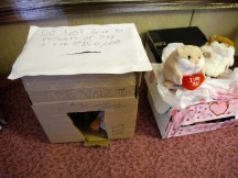 Valentine's Jail next to the hamsters