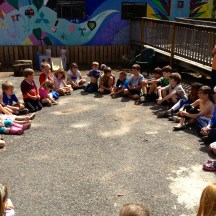 Friday's outdoor assembly