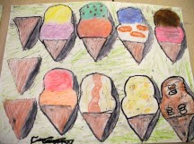 Candy and dessert art by Primary Two