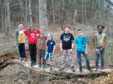 The Wednesday Group in the woods