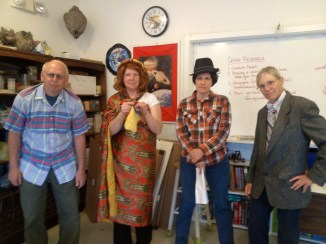 """Patients"" in costume for a science class investigation into a mystery illness"