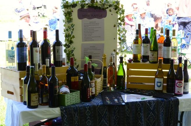 The wine raffle was very popular