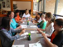 7th-8th grade lunch at Sakura, after a unit on Japanese culture