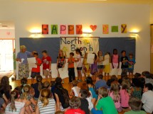 Primary Two and their posters about the Frontier Culture Museum