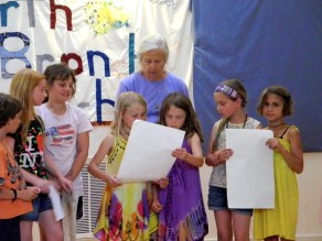 Primary Two students present Frontier Culture Museum findings