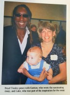 Katrien and baby Luke with Boyd Tinsley