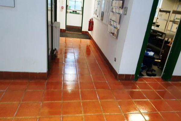 Terracotta Floor Files After Cleaning Amersham Council Offices