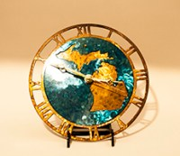 Copper and Blue Wall Clocks