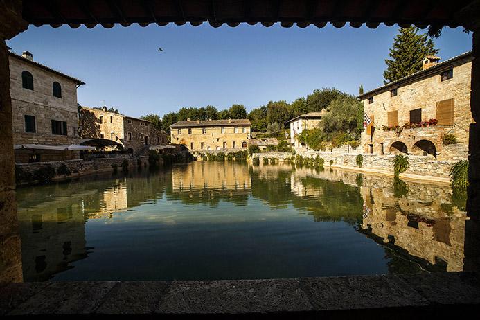 термальные источники в Италии Баньо Виньони