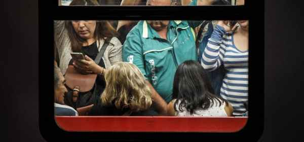 photo of people inside the train