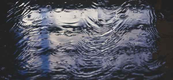 water droplets in flowing water