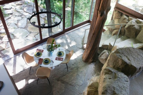 Dining area from above