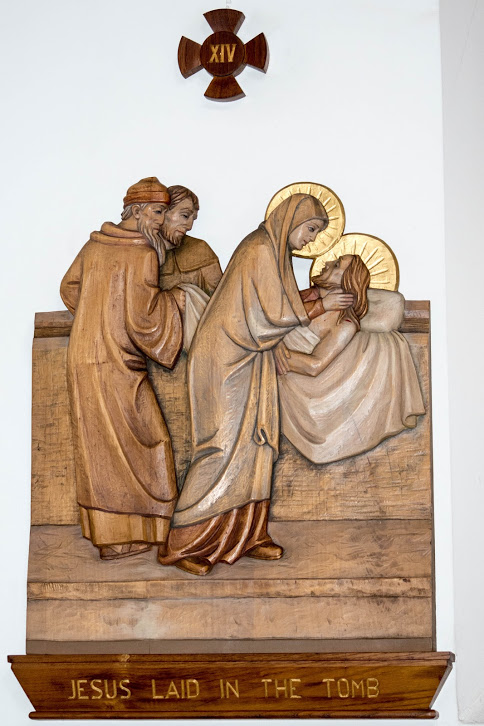 Jesus is placed in the tomb
