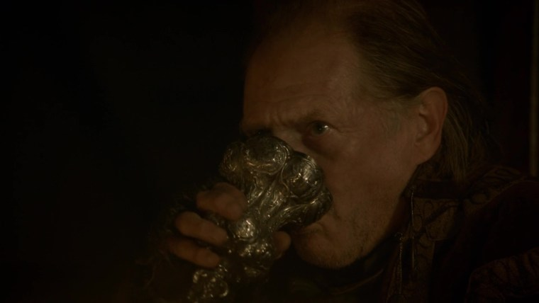 Frey Drinking While The Red Wedding Takes Place