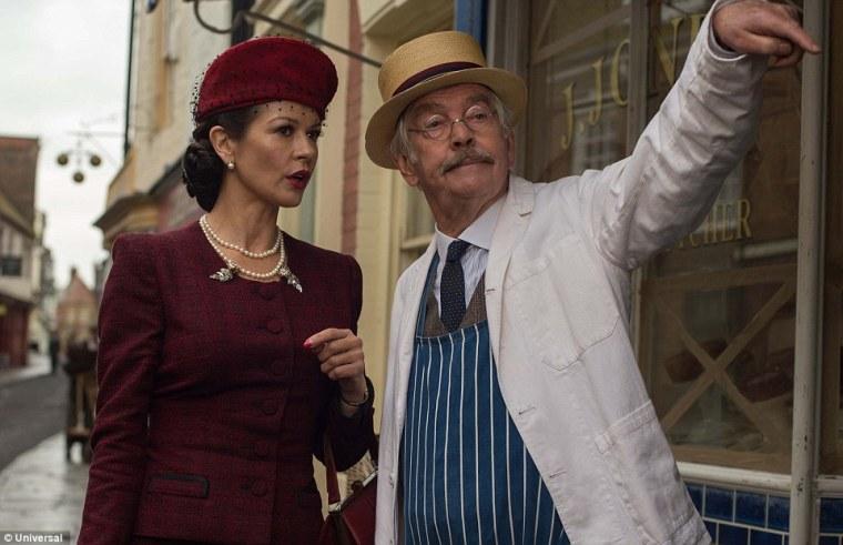 Lance Corporal Jones (Tom Courtenay) playing it smooth with Miss Winters (Catherine Zeta-Jones)