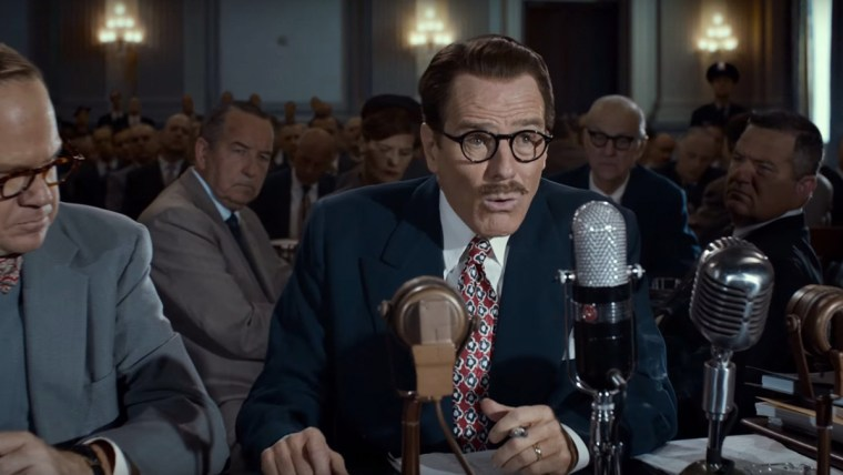 Trumbo (Cranston) being interrogated by The House Un-American Activities Commitee (HUAC)