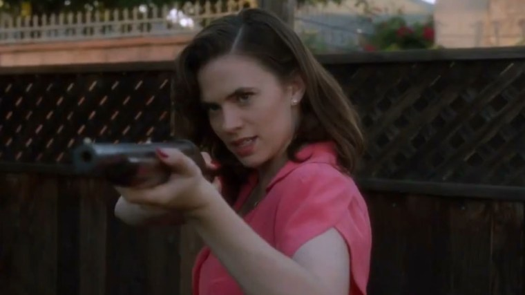 Peggy takes aim (Agent Carter, Marvel Entertainment, ABC Studios)