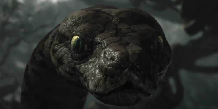 Kaa with alluring voice of Scarlett Johansson (The Jungle Book, Walt Disney Pictures)