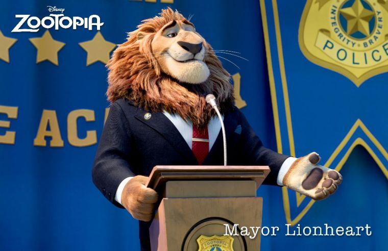 Mayor Lionheart played by J.K. Simmons