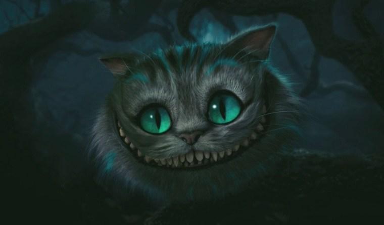 Stephen Fry's smiling Chesire Cat  (Alice In Wonderland, Walt Disney Pictures)