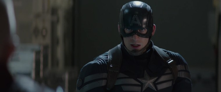 The righteous Captain America (Chris Evans) (Captain America: The Winter Soldier, Marvel Studios)