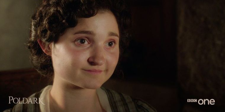 The sweet and innocent Verity Poldark (Ruby Bentall) (Poldark, BBC One)