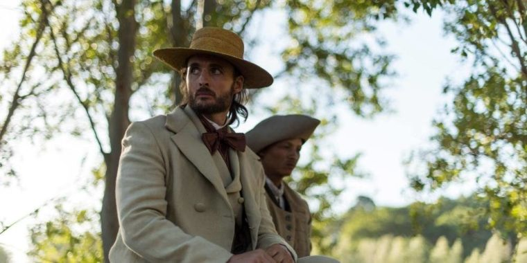 The vicious racist and rapist Master Appleby (Greg Bryk) (The Book Of Negroes, BET Network)