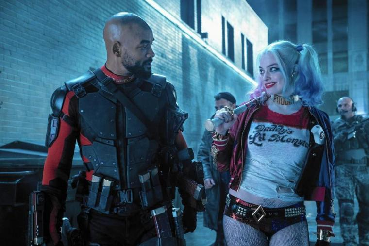 Deadshot (Will Smith) and Harley Quinn (Margot Robbie) (Suicide Squad, Warner Bros)
