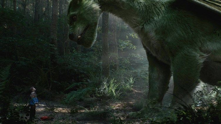 The big and friendly dragon Elliot (Pete's Dragon, Walt Disney Pictures)