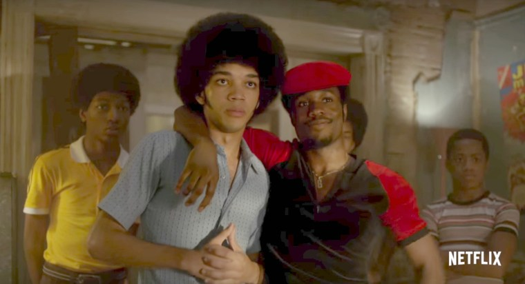Ezekiel (Justice Smith), Shaolin Fantastic (Shameik Moore) (The Get Down, Netflix)