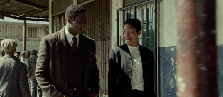 Nelson Mandela (Idris Elba) and Winnie Madikizela (Naomi Harris) (Mandela: Long Walk To Freedom, The Weinstein Company)