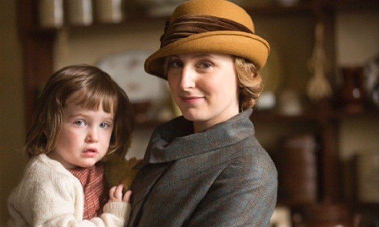 Little Marigold with Edith Crawley (Laura Carmichael) (Downton Abbey, ITV)