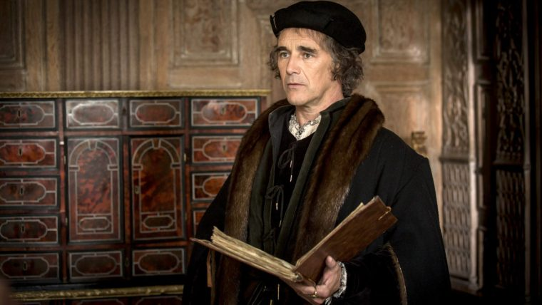 The spider and manipulator Thomas Cromwell (Mark Rylance) in Wolf Hall (Wolf Hall, BBC One)