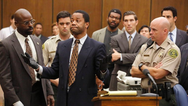 Sterling K. Brown plays Christopher Darden opposite Cuba Gooding, Jr's O.J. Simpson (The People V. O.J. Simpson: American Crime Story, FX)