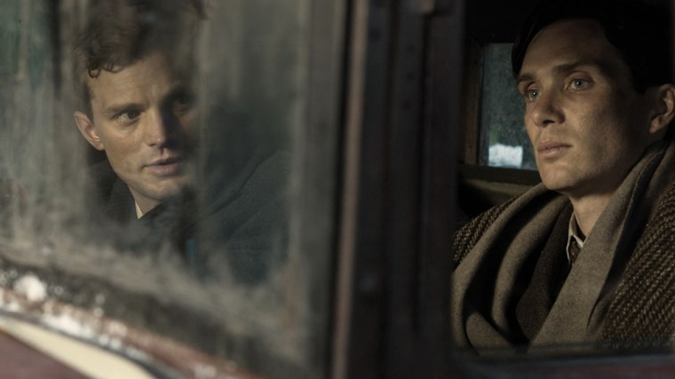 The boyish and often naive Jan Kubiš (Jamie Dornan) with Josef Gabčík (Cillian Murphy). (Anthropoid, Bleecker Street Media)