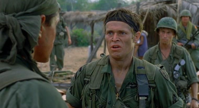 Willem Defoe's Sgt Barnes (Platoon, Orion Pictures)