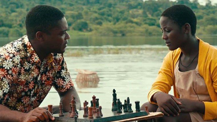 David Oyelowo is Robert Katende and Madina Nalwanga is Phiona Mutesi  (Queen Of Katwe, Walt Disney Pictures)