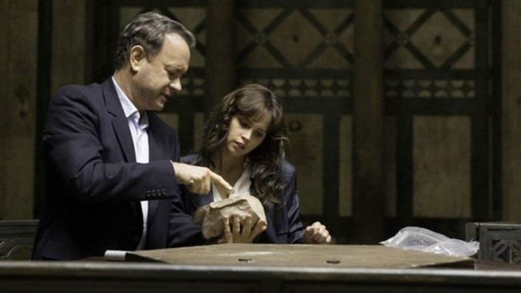 Robert Langdon (Tom Hanks) and Sienna Brooks (Felicity Jones) lead this crime thriller (Inferno, Sony)