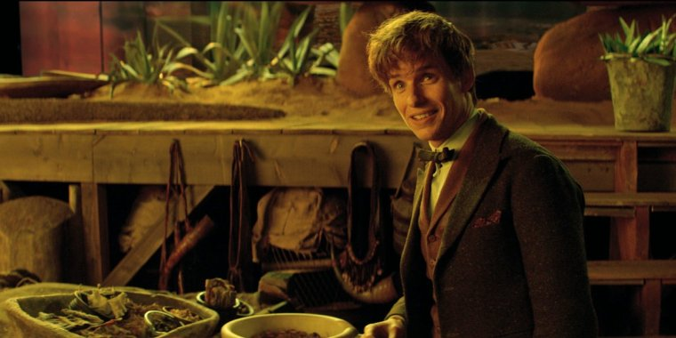 The very very English Newt Schamander (Eddie Redmayne) is quite likeable once you get used to this oddness (Fantastic Beasts And Where To Find Them, Warner Bros.)